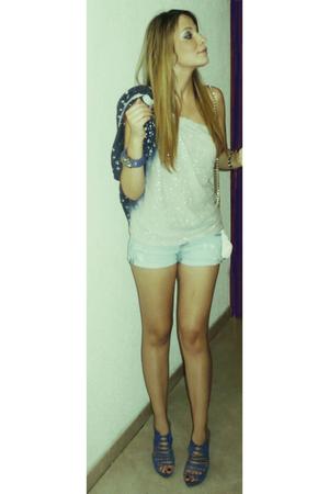 Zara shoes - Miss Selfridge blouse - Mango bracelet - Zara purse
