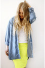 Light-yellow-neon-lace-asoscom-skirt-sky-blue-denim-monki-shirt