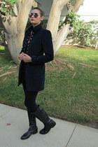 velvet Zara jacket - Franco di Sarto boots - Forever 21 leggings