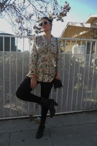 vintage belle rose purse - Bakers boots - Forever 21 tights - Target sunglasses