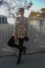 Bakers-boots-forever-21-tights-vintage-belle-rose-purse-target-sunglasses