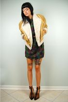 beige noirohio vintage jacket - green noirohio vintage dress - brown Alexander W