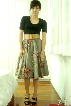 American Apparel shirt - H&amp;M skirt - Topshop shoes - vintage belt - casio access
