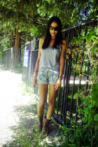 H&M sunglasses - f21 shirt - Pinky Otto shorts - Target boots
