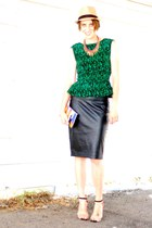 Boulee shirt - Zara skirt - Zara heels