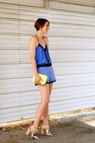 beige yelena sam edelman sandals - yellow neon box bag Zara bag