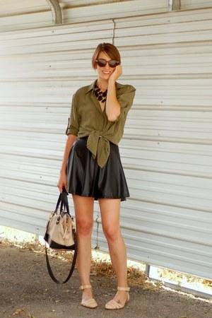 woven leather Zara flats - French Kiss skirt