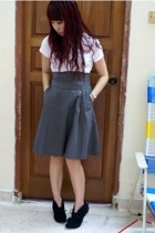 Gap shirt - the shoplifters skirt - Lacquer and Lace boots