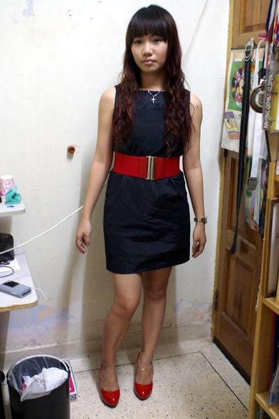 dress - Forever21 belt - shoes