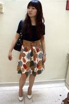 Esprit shirt - Guess purse - belt - moms skirt - shoes