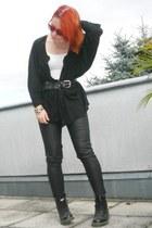 pleather Forever 21 pants - Dr Martens boots - Camden Market vest