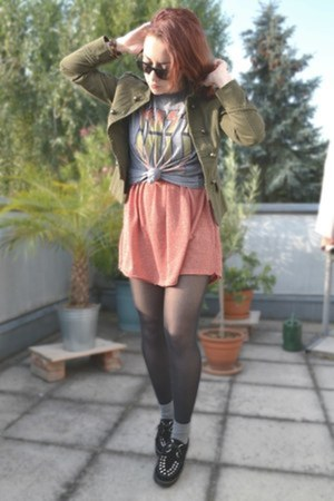 Zara dress - Zara jacket - Forever 21 t-shirt