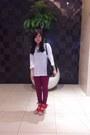 Magenta-topshop-jeans-black-mango-bag-white-zara-blouse