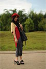 Red-hat-dr-for-bloopendorse-gray-gaudi-black-bucherri-black-sophie-marti