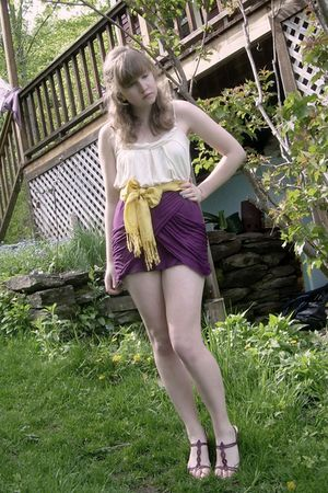 purple Urban Outfitters skirt - purple Ecote UO shoes - white Swapped from a Fri