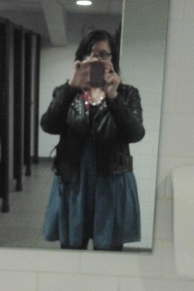 Primark jacket - H n M dress - Primark vest