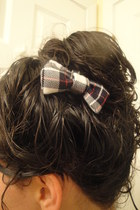 black hair bow DIY accessories