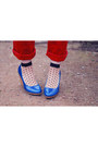 Red-very-jeans-blue-la-redoute-shoes-black-polkadot-asos-socks