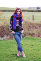 blue polkadot asos scarf - navy La Redoute jeans