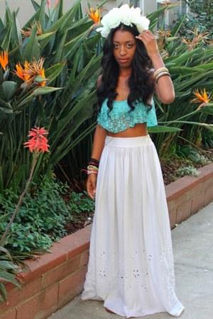 lace crop top Comme ca blouse