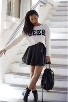 geek word top Comme ca sweater