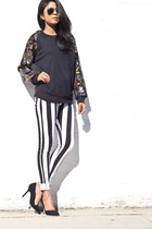 stripe pants comme ca pants
