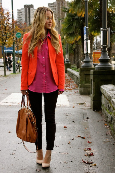 orange blazer unknown brand blazer