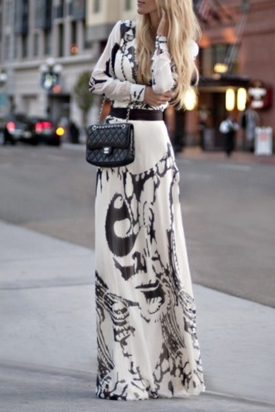 print maxi unknown brand dress