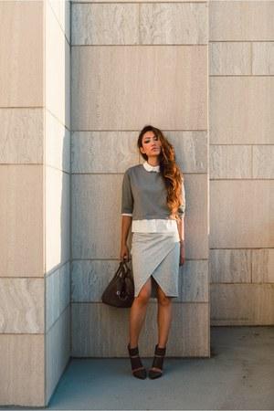 Sole Society heels - asos skirt - Endless Rose top