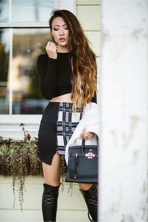 De Lacy skirt - stuart weitzman boots - vince coat - De Lacy top