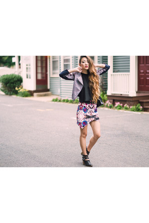 Anarchy Street bracelet - Seychelles shoes - BCBG jacket - Lovers  Friends skirt