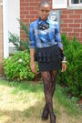 Black-forever-21-skirt-blue-madness-shirt-black-jessica-simpson-shoes