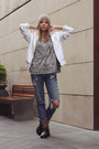 Brown-h-m-boots-pull-bear-jeans-heather-gray-printed-zara-shirt