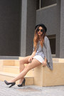 Black-h-m-hat-heather-gray-h-m-shirt-h-m-bag-charcoal-gray-h-m-cardigan