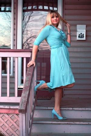 jewel Shoedazzle shoes - faux wrap knit notsoseemless custom dress