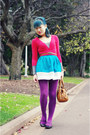 Amethyst-target-tights-tawny-marc-by-marc-jacobs-bag-turquoise-blue-topshop-
