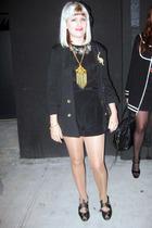 Aqua jacket - vintage blouse - fletcher by lyell shorts - remix shoes - vintage