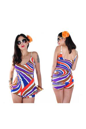 deep purple nova vintage clothing swimwear