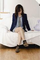 Dolce Vita boots - Forever 21 dress - Zara blazer