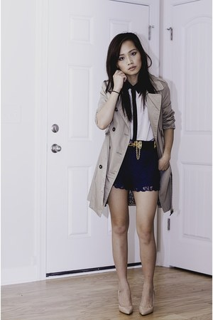 Forever 21 jacket - Forever 21 shorts - Boutique 9 pumps