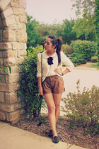 ivory Forever 21 shirt - light brown leather Forever 21 shirt