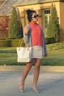 Eggshell-forever-21-dress-salmon-sheer-tj-maxx-shirt