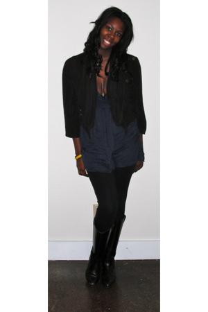 vintage jacket - vintage skirt - Forever 21 leggings - Zara boots