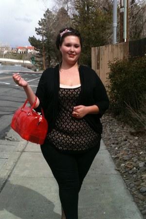 Furla purse - Target top - Target top - Forever 21 cardigan - Target pants