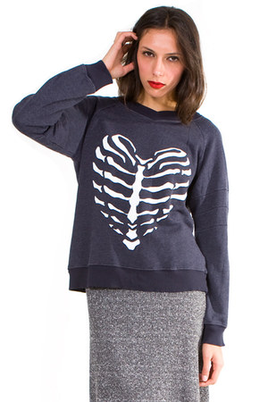 dark gray wildfox couture sweatshirt