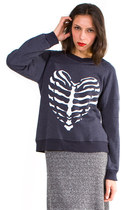 dark gray wildfox couture sweatshirt