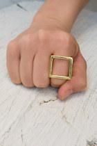 gold gold cube ring ring