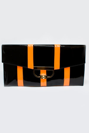 black neon clutch Number A purse