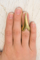 gold talon half ring ring