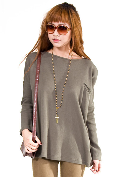 dark khaki lifetime collective top